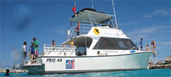 Ocean Encounters Resort Diving Boat on Bonaire